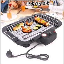 Plug in electric oven BBQ grill barbecue pan spitrack household