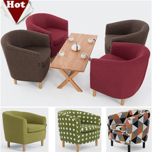 Wholesale! Wood living room sofa,Leisure cloth sofa Red Green Brown sofa set living room furniture modern chinese furniture(China)