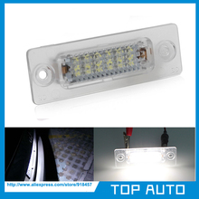 2Pcs LED Number License Plate Light No Error For Skoda Superb Volkswagen Jetta Caddy Touran Golf Plus Passat