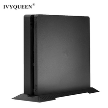 IVYQUEEN Anti-Slip Vertical Stand Dock Mount Cradle Holder For Sony PlayStation 4 PS4 Slim Console Protector - Black / White
