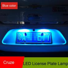 For 2009-2013 Chevrolet Cruze Rear license plate lamp/number-plate light( White/Blue option )