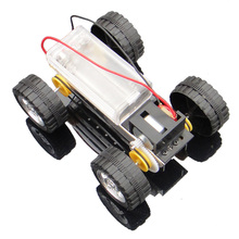 4WD Smart Robot Car Tank Chassis RC Toy DIY Handmade Kit Self Assembly DIY Mini Battery Powered Metal Car Model 12*8cm