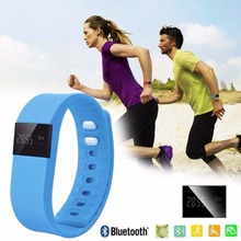 Free Shipping Smart phone bluetooth bracelet vibrating alarm clock Wristband sports watches for women(China)