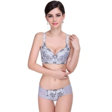 Vintage Women Lady Sexy Embroidery Lace Underwear Push Up Bra Sets Panties 32B/34B/36B(China)