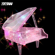 YNYNOO New Arrivlas Crystal DIY Piano 3D Puzzle Hot Assembly toys Educational funny Toys Puzzles for children(China)