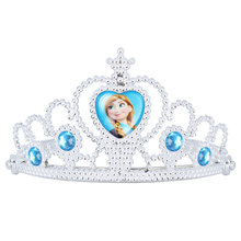 2017 Direct Selling Top Fashion Tiaras Water Drop Anna Princess Crown Children's Plastic Ice And Snow Adventures Day Headdress