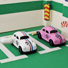 2pcs Pocket car 1:64 classic cars Beetle Alloy car model metallic material  toys for children