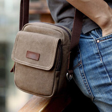 Summer New Kroe Style Canvas Vintage Men Shoulder Crossbody Messenger Bags for Man Brown Black Small Bag Designer Handbags