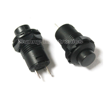 5pcs, 12mm New Black Lock Locking Latching OFF- ON Push Button Car/Boat Switch