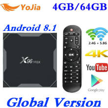 Android 8,1 ТВ коробка X96 Max Amlogic S905X2 4 K Media Player 4 GB Оперативная память 64G X96Max DDR4 QuadCore 2,4G и 5G Dual Wi-Fi pk T9 H96 MAX плюс(China)