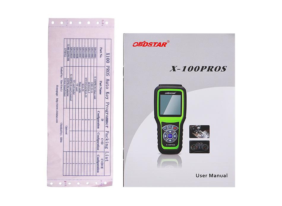 OBDSTAR X100 PROS C+D+E model SK43-K (7)