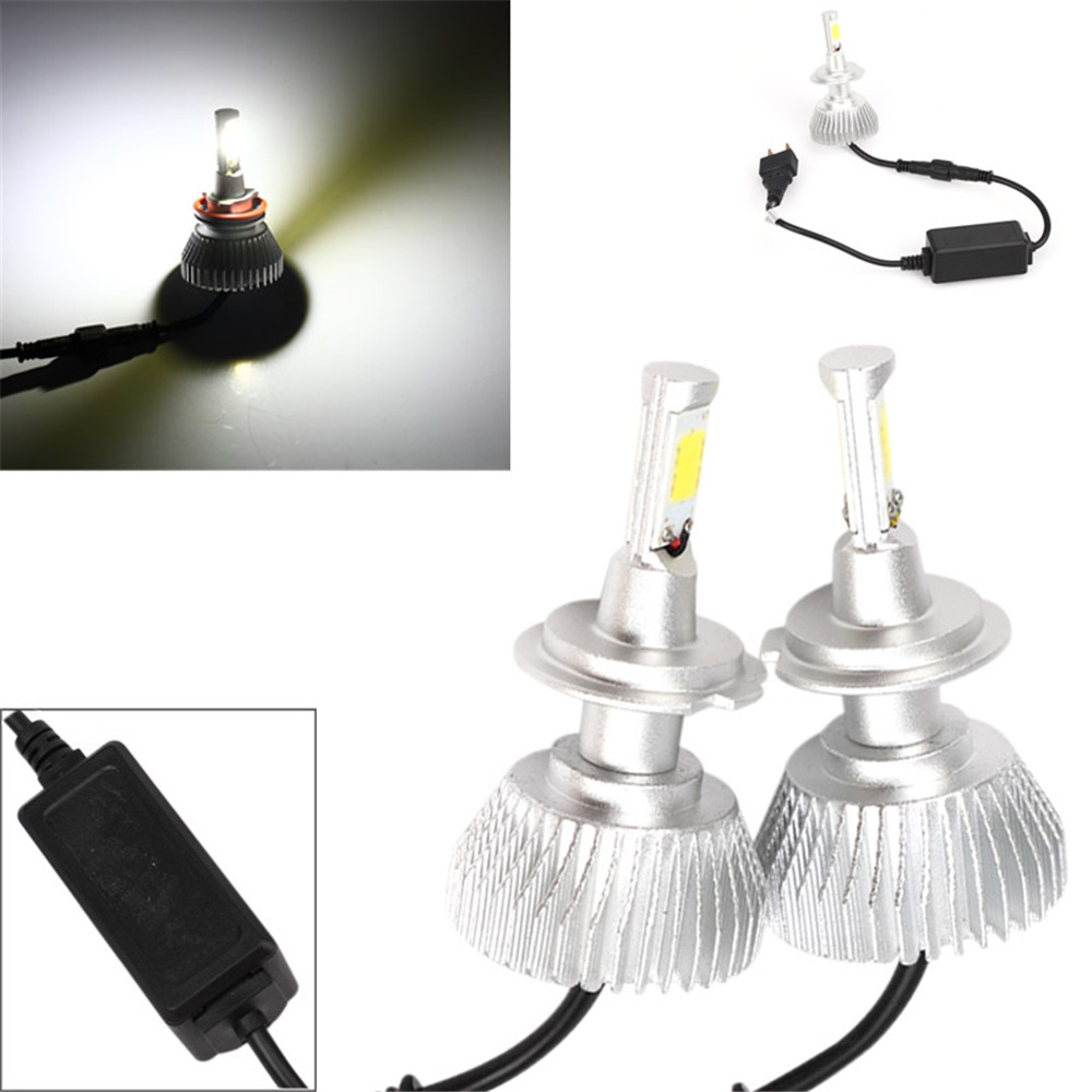 2pcs 30W 2200LM H7 Shockproof LED Light Headlight Vehicle Car Hi/Lo Beam Bulb Kit 6000k White<br><br>Aliexpress