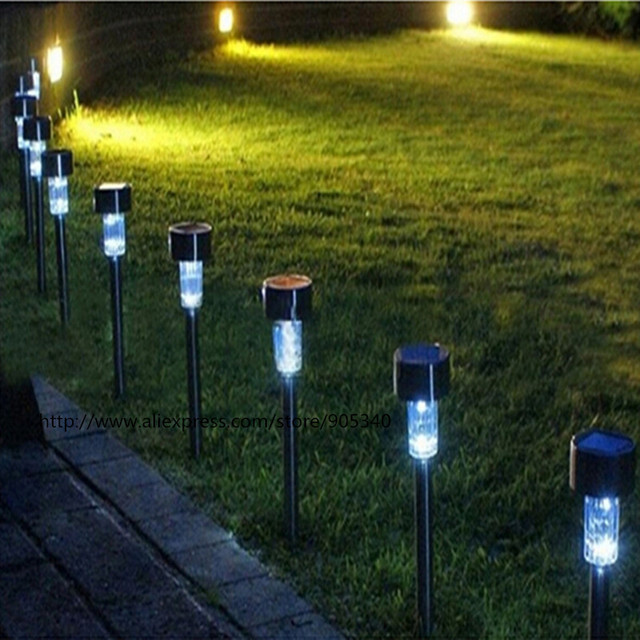 Solar Powered Dip Led Lawn Light Plastic Outdoor Yard Garden Wall Lobby Pathway Lamp Decoration