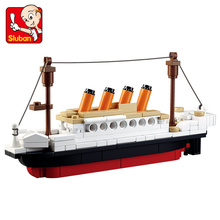 SLUBAN 194 pcs Building Blocks Toy RMS Titanic ShipTitanic Boat 3D Model Educational Gift Toy for Children Christmas Gift