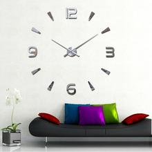 Fashion Lovely 3D DIY Large Digital Wall Clock Mirror Surface Sticker Living Room Decor