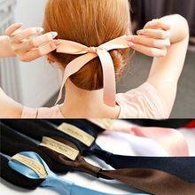 All-Purpose Style Silk Bowknot Hair Disk Women Bangs Hairstyle Fashioning Ribbons Styling Tools 6 Colors Available