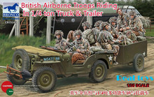 Bronco 35169 1/35 scale British Airborne Troops Riding In 1/4 Ton Truck & Trailer