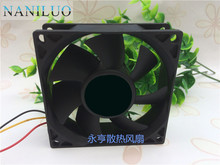 NANILUO Cooler Master A8025-25BB-3BN-P1 DC 12V 0.15A 3-wire 3-pin connector 110mm 80x80x25mm Server Square Cooling Fan