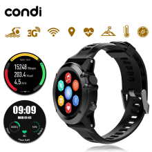 100%Original Condi H1 Smart Watch IP68 Waterproof 500W Camera Compass 3G GPS BT WIFI Calls 4GB+512MB Clock For Android IOS Phone