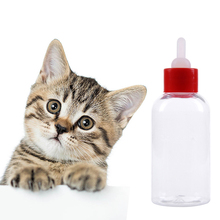 60ML 4Pcs/set Pet Small Dog Puppy Cat Kitten Rabbit Milk Nursing Care Feeding Bottle Small Pet Feeder Set