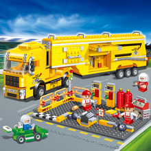 DIY Mini Building Nano blocks,children gifts,Educational toys,model,funny,8761,container truck,transport series,BanBao Blocks(China)