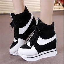 Spring autumn Platform sneakers women shoes girls high-top sneakers for women sport shoes women sneakers(China)