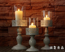 3PCS/set modern white metal candleholder candle stand candle stick home wedding Christmas decoration 2087