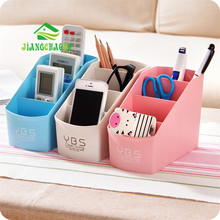 Multifunctional Plastic Multi-Cell Desktop Storage Box Living Room Remote Control Cosmetics Storage Box Office Finishing Box