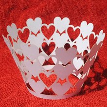 "New design! Hot sale!wedding fancy ""heart to heart""cupcake wrappers from china in all color for wholesale and retail"