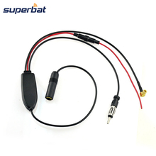 Superbat Universal DAB DVB FM/AM Radio Aerial Antenna Signal Splitter+Amplifier Cable Adapter for JVC Pioneer MVH-X580 SLK R170(China)