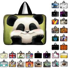"7.9 9.7 10 12 13 14 15 17"" panda Tablet Sleeve Case Mini PC Laptop Bag 10.1 11.6 13.3 15.4 15.6 Computer Handbag Protector Cover(China)"