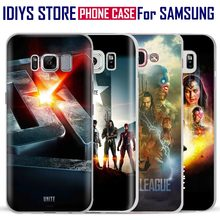 For Samsung Galaxy S4 S5 S6 S7 Edge S8 Plus Note 2 3 4 5 C5 C7 A8 A9 Justice League Unite 2017 Movie Phone Case Shell Cover Bag