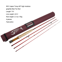 Aventik IM12 Fly Rods 7'6'' 8'0'' 8'6'' 4 Pieces Fast Action Super Compact Freshwater Fishing Rod(China)