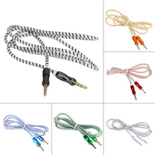 1m 3.5mm Metal Head AUX Male to Male Audio Line Male to Male Stereo Audio Cable for PC Car Phone(China)