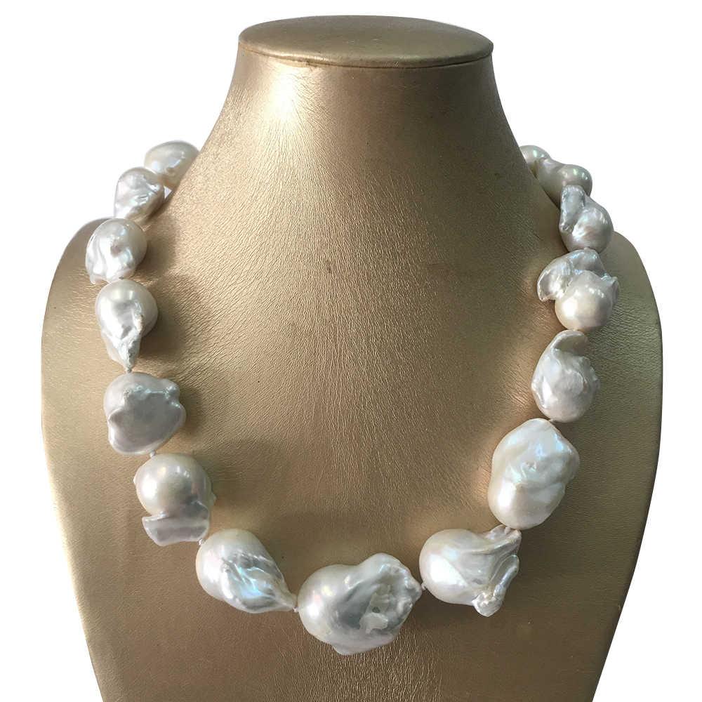"P4506 5row 18/"" 25 mm NOIR BAROQUE Biwa Freshwater Pearl Smoky Quartz Necklace"