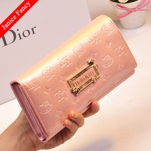 Clearance Sale Fashion Hello Kitty Designer Genuine Leather Neceser Feminina Sac Women Coin Card Wallet Purse 19*11*3cm