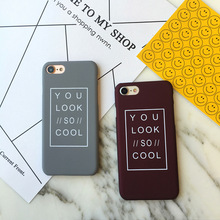 Buy Look Cool Letter Case iPhone 8 Case Matte Hard Phone Cases Back Cover Fundas Capa iPhone 5 5S SE 6 6S 7 Plus for $1.20 in AliExpress store