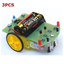 High Quality 2017 3PCS Tracking Robot Car Electronic DIY Kit With Reduction Motor For RC Robot Toys Boy Gifts