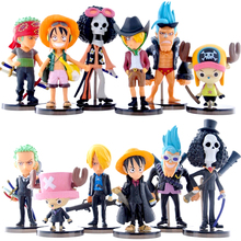 FUNKO POP 6pcs/set Japan Cartoon Comics Hot sale anime Cute Mini One Piece Figure PVC Action Figures brinquedos Collection toys