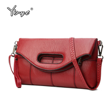 YBYT brand 2017 new women pack envelope clutch fold handbags female vintage casual Messenger bag ladies shoulder crossbody bags(China)
