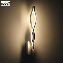 Modern Aluminum creatvie Led wall lamps bedside living room stair aisle Decoration sconce,16W indoor lighting fixtures bra