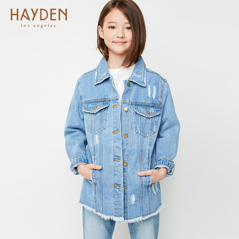 teenage girls denim jackets and outerwear coat autumn spring 7 9 12 years girls clothing kids girl jackets cotton children coats<br>