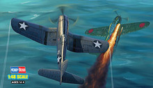 Hobby Boss 1/48 scale aircraft models 80382 US F4U-1 fighter (post-type) *(China)
