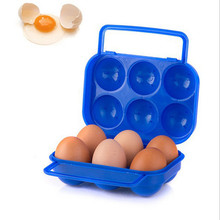 New Quality Portable 6 Eggs Plastic Container Holder Folding Egg Storage Box Handle Case Dropshipping &109(China)
