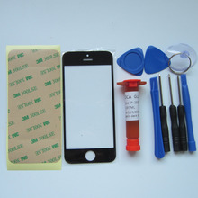 Front Outer Glass Lens Cover Replacement Parts For Apple iPhone 5 5S 5C 4S 4 6 6s plus TouchScreen Protector & tools & uv glue