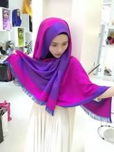 10pcs/bag two side two different color New 2016 French cashmere pashmina BIG Long HIJAB muslim scarf