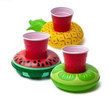 Inflatable watermelon drink floats Inflatable Donter drink holder Pool Float Cup seat Water toys Pool Party drink floats
