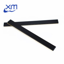 10pcs 40 Pin Single Row Straight Female Pin Header Connector Strip High Quality 2.54mm Black OH(China)