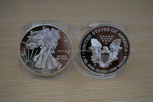 Non magneitc!2015 American Eagle Silver Coin Edition .999 Silver clad Replica Coin No COPY Mark 100PCS/lot Dhl free shipping(China)