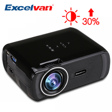 Excelvan EHD01 Mini Projector 1500Lux TV Home Theater LED Projector Support Full HD 1080p Video Media Player HDMI LCD 3D Beamer